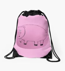 Pig - Cochon - Martin Boisvert Drawstring Bag
