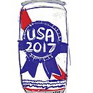 USA 2017 Beer Can by Greg Tippett