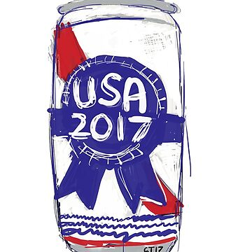 USA 2017 Beer Can by Robotmangreg