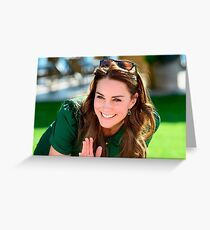 Beautiful Kate Middleton Greeting Card