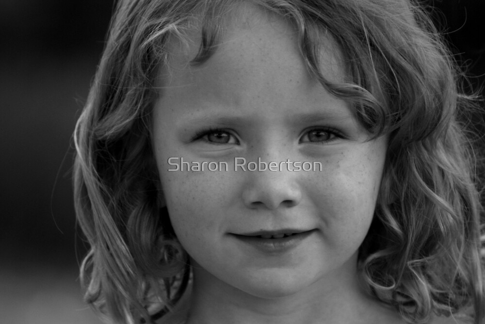 Issy B&W by Sharon Robertson