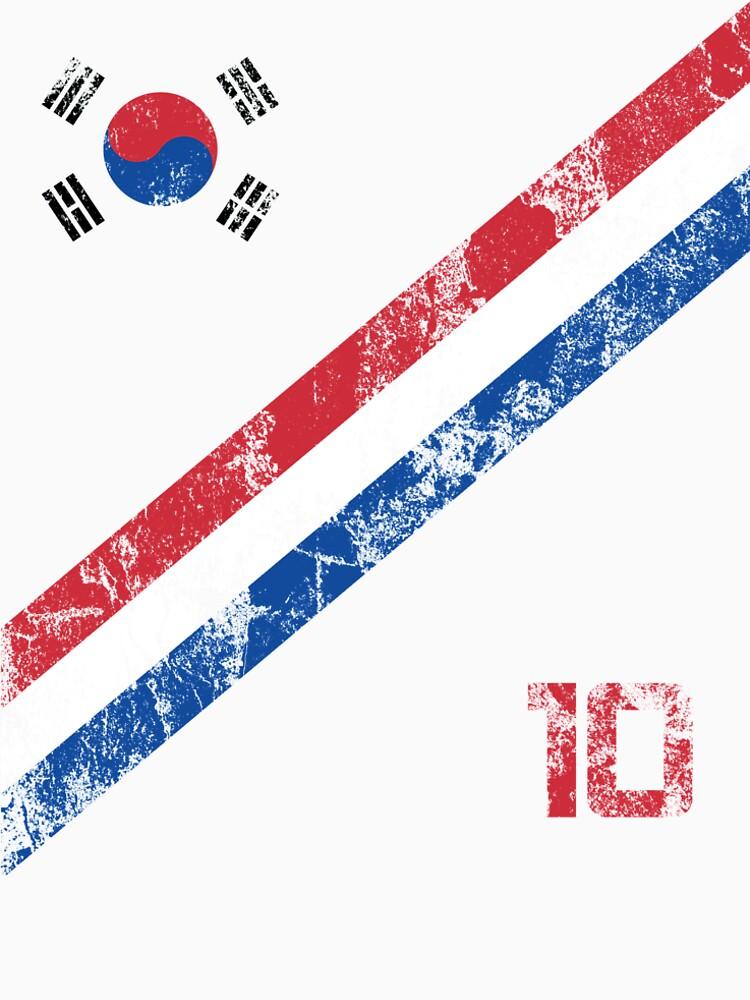 South Korea World Cup Soccer Short-Sleeve T-Shirt Football Korean Style Shirt Seoul Flag BTS Tae Kwon Do KPOP K-POP by 7United