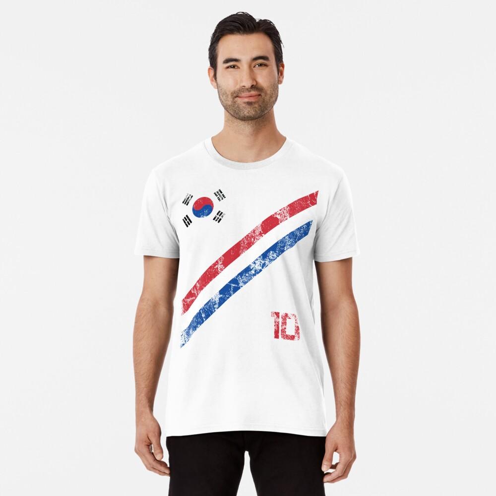 South Korea World Cup Soccer Short-Sleeve T-Shirt Football Korean Style Shirt Seoul Flag BTS Tae Kwon Do KPOP K-POP Premium T-Shirt