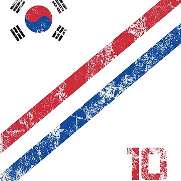 South Korea World Cup Soccer Short-Sleeve T-Shirt Football Korean Style Shirt Seoul Flag BTS Tae Kwon Do KPOP K-POP by 7United