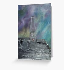Still Life - Wine, goblet, smoke Greeting Card