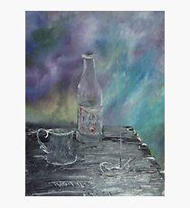Still Life - Wine, goblet, smoke Photographic Print