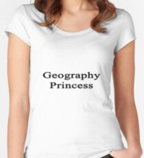 Geography Princess  Women's Fitted Scoop T-Shirt
