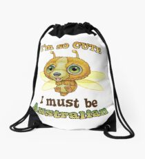 I'm so cute - I must be Australian - Doodackie Drawstring Bag