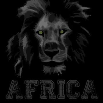 African Lion  by Abili-Tees
