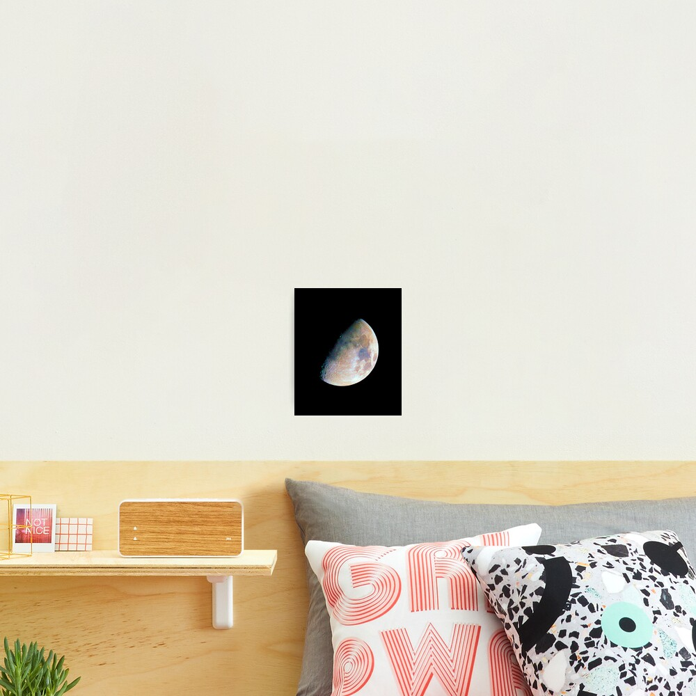 The moon in colour Photographic Print