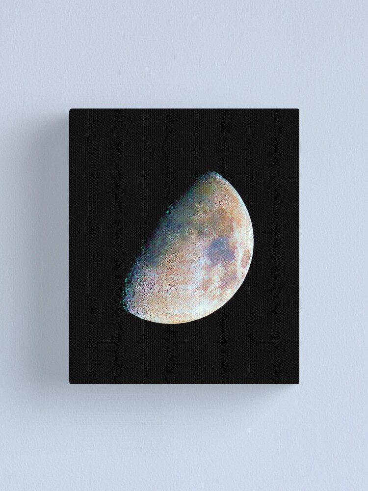 Alternate view of The moon in colour Canvas Print