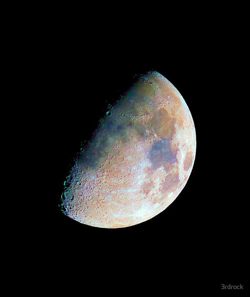 The moon in colour by 3rdrock