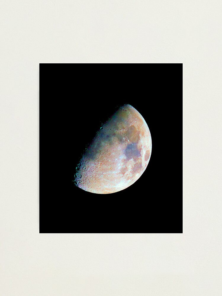 Alternate view of The moon in colour Photographic Print
