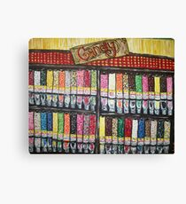 """Skewed Candy Store"" Canvas Print"