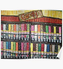 """""""Skewed Candy Store"""" Poster"""