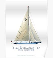 J-Klasse Endeavour 1937, Tony Fernandes Poster