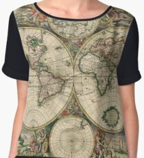 Old Map Chiffon Top