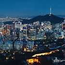 Panorama of Seoul at Night by Hotaik  Sung