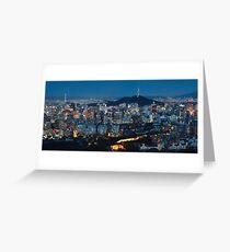 Panorama of Seoul at Night Greeting Card