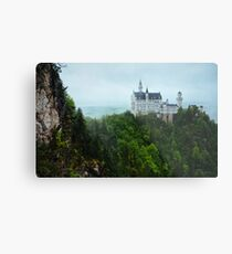 Neuschwanstein Castle Covered in Overcast Day Metal Print