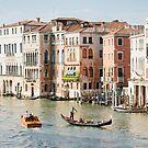 Grand Canal with Gondola in Venice by Hotaik  Sung