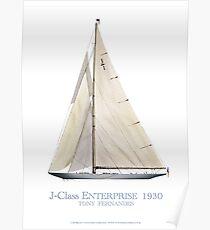 J-Class Enterprise 1930, tony fernandes Poster
