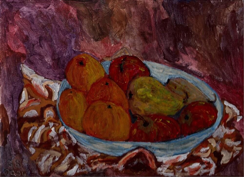 Bowl of fruit by GEORGE SANDERSON