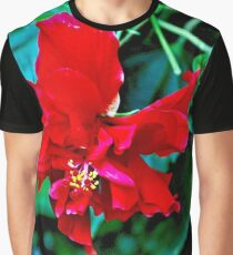 The Red Flower Graphic T-Shirt