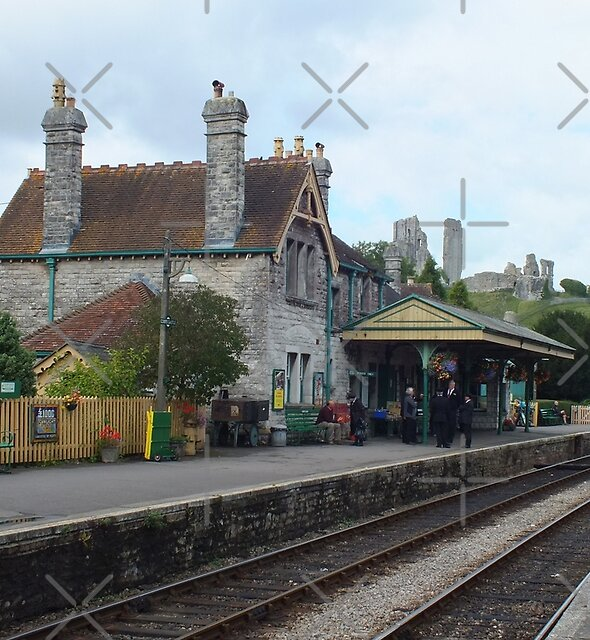 Waiting at Corfe Castle Railway Station by Yampimon