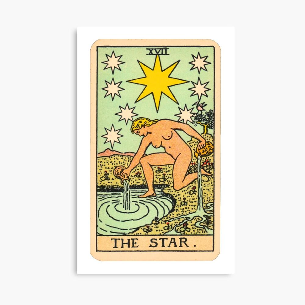 Tarot - Der Stern Leinwanddruck