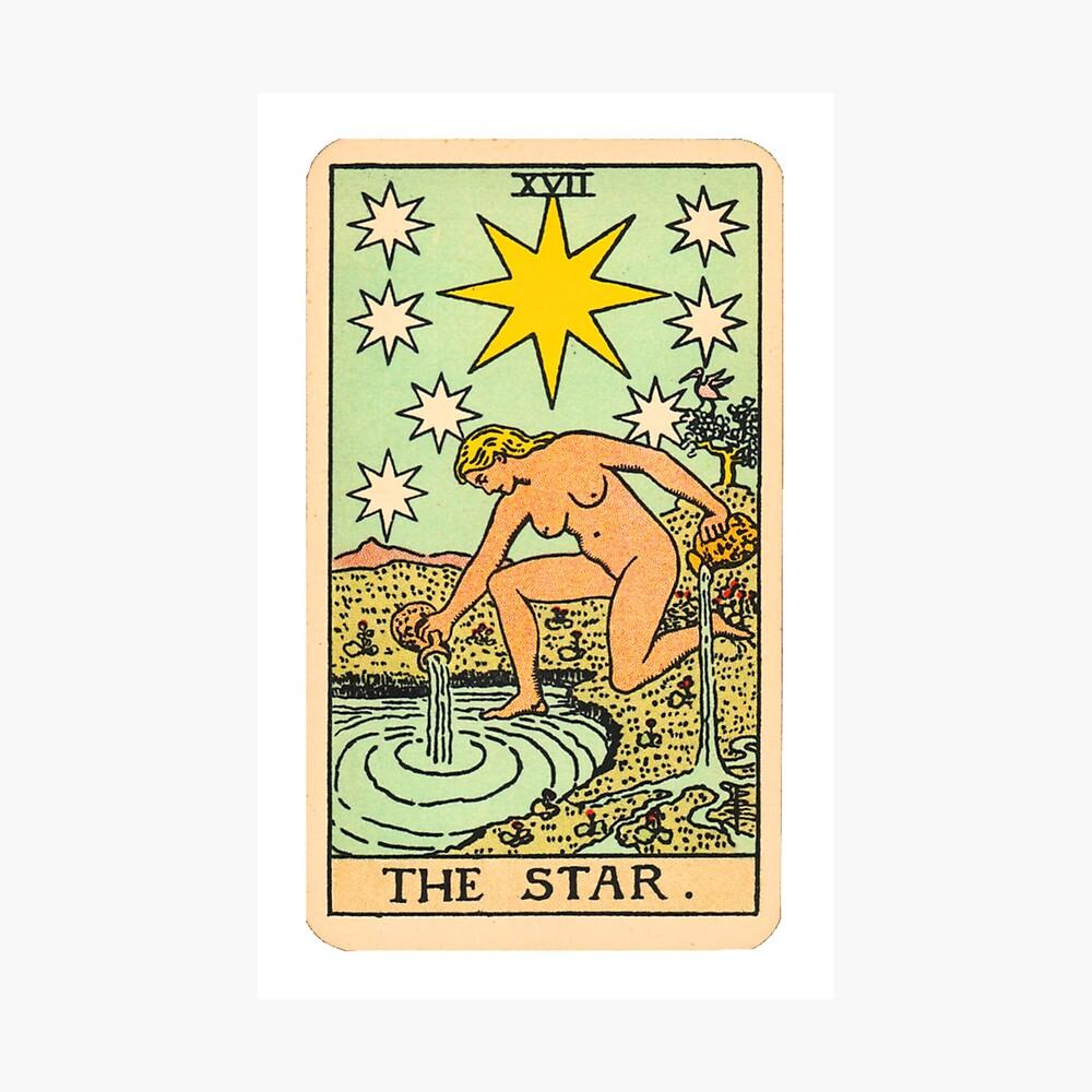 Tarot - Der Stern Fotodruck