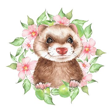 Summer ferret by Gribanessa
