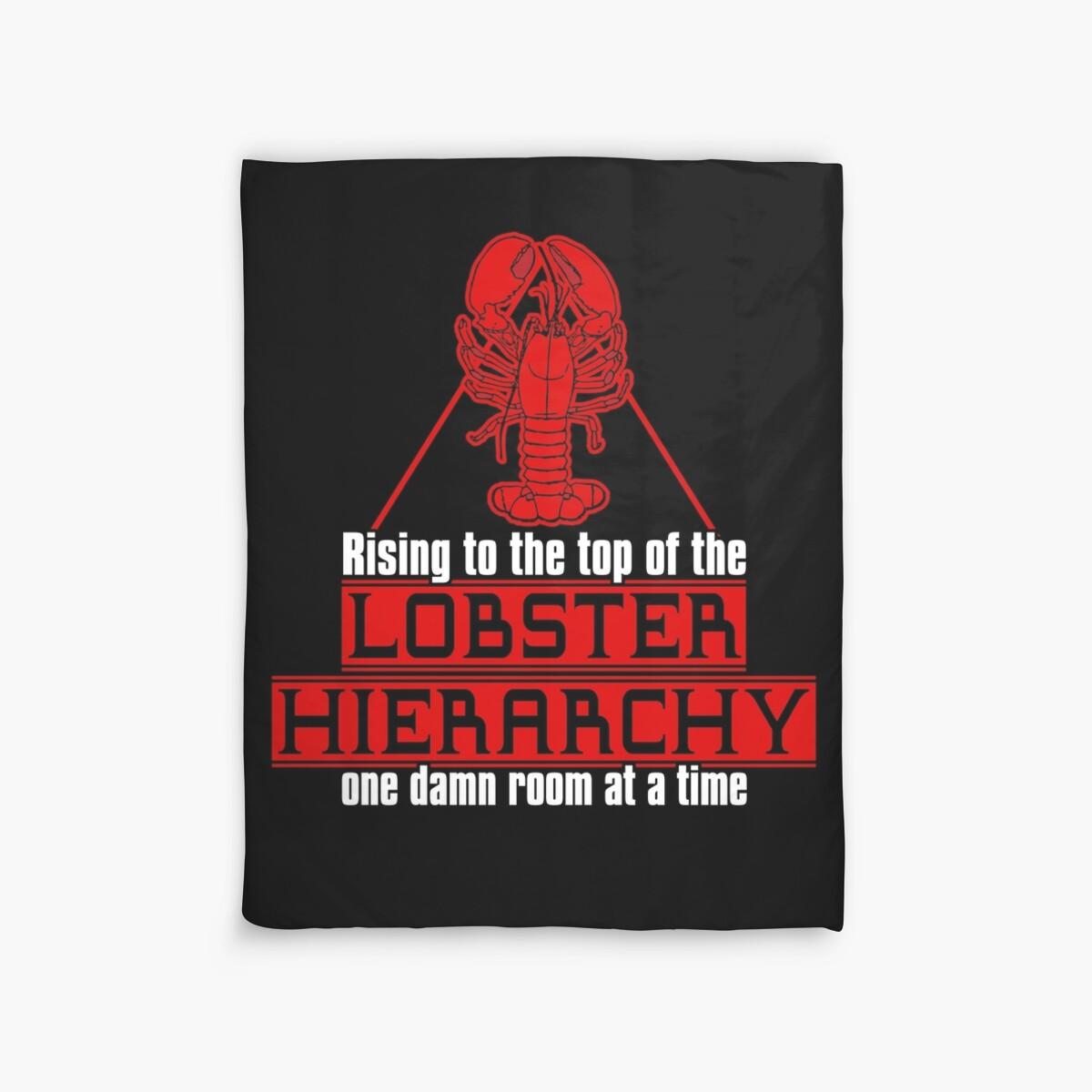 Quot Lobster Hierarchy Jordan Peterson Quot Duvet Covers By