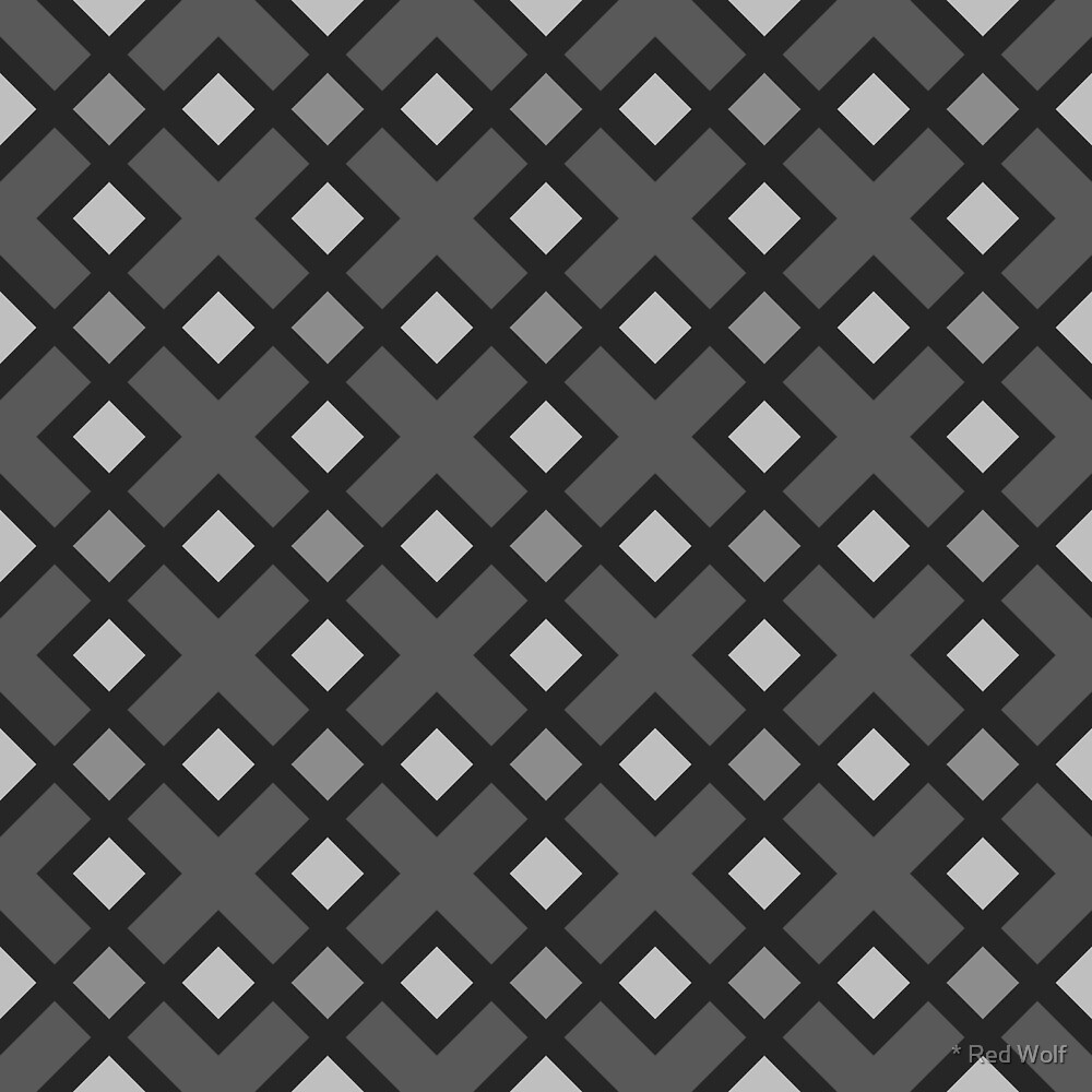 Geometric Pattern: Weave: Grey by * Red Wolf
