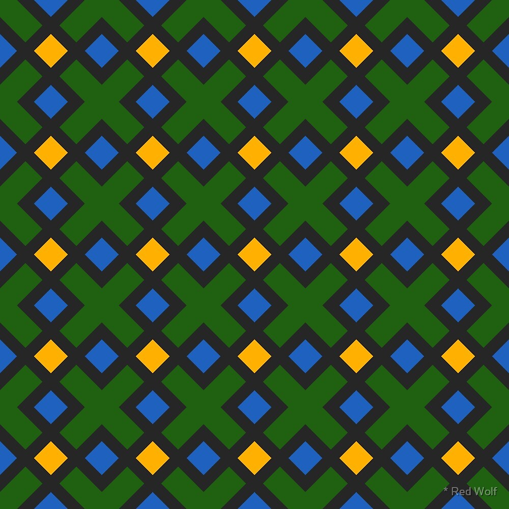 Geometric Pattern: Weave: Green by * Red Wolf