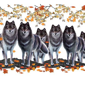 Wolves In Fall by bhymer