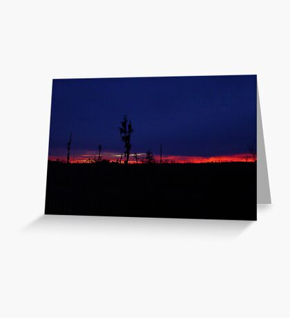 Sunset with a Stripe Greeting Card