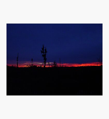 Sunset with a Stripe Photographic Print
