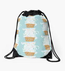 A ice-cats cream Drawstring Bag