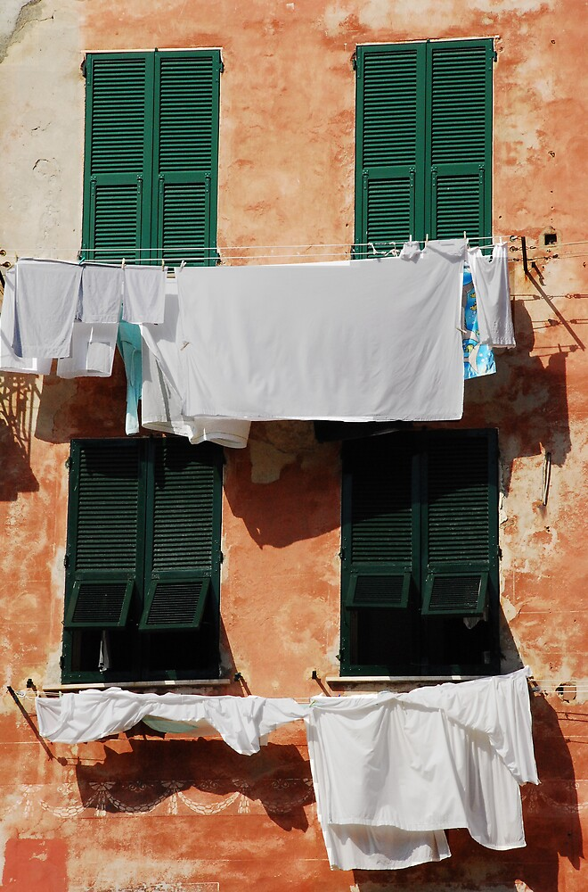 Washing, Vernazza by jojobob