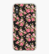 Shabby Chic Pink And White Roses iPhone Case
