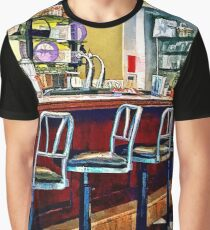 Candy Store With Soda Fountain Graphic T-Shirt