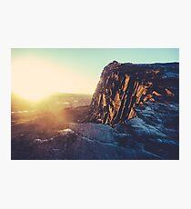Edinburgh Winter Sunset Photographic Print