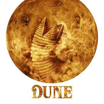 Dune - The Spice Must Flow (Sandworm - Planet) by porkuskorpz