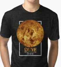 Dune - The Spice Must Flow (Sandworm - Planet) Tri-blend T-Shirt