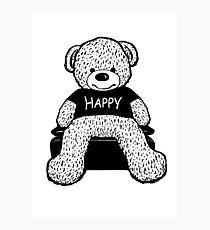 Happy bear Photographic Print