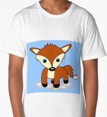 Cute fox art Long T-Shirt