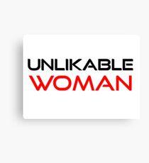 Unlikable Woman Feminism Activism Equality Liberal Women T-Shirts Canvas Print