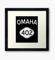 Omaha 402 Nebraska Vintage Area Code Framed Print