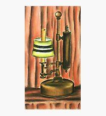 Antique lamp in colour Photographic Print